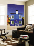Blue House Wall Mural by Dennis Walton