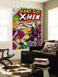Giant-Size X-Men No.2 Cover: Sentinel, Cyclops, Iceman, Angel and Beast Malowidło ścienne autor Dave Cockrum