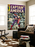 Marvel Comics Retro: Captain America Comic Book Cover No.107, with Red Skull and Bucky (aged) Wall Mural