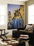 Skeleton Adorned as Virgin Mary Wall Mural by Sean Caffrey