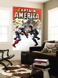Captain America No.14 Cover: Captain America and Bucky Wall Mural by Steve Epting