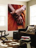 Close Up of Monk's Hands Wall Mural by Daniel Boag