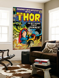 Marvel Comics Retro: The Mighty Thor Comic Book Cover #120, Journey into Mystery (aged) Mural