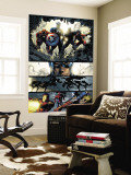 Amazing Spider-Man No.523 Group: Captain America, Luke Cage, Iron Man and Spider Woman Wall Mural by Mike Deodato
