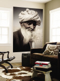Portrait of Old Man from Khuri Village Wall Mural by April Maciborka