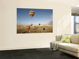 Hot-Air Balloons Ride over Cappadocia Wall Mural by Seong Joon Cho