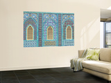 Tiling around Shuttered Windows, Shrine of Hazrat Ali Wall Mural by Jane Sweeney