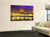 Church, City Buildings and Neckar River at Dusk Wall Mural by Richard l&#39;Anson
