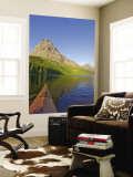 Kayaking on Two Medicine Lake in Glacier National Park, Montana, USA Wall Mural by Chuck Haney