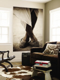 Camel Trader Standing Cross Footed Wall Mural by April Maciborka