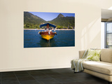 Man on Moored Boat Off Ilha Grande Shore Wall Mural by Micah Wright