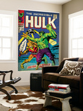Marvel Comics Retro: The Incredible Hulk Comic Book Cover No.103, with the Space Parasite (aged) Wall Mural