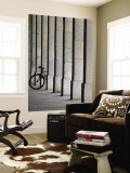 Bicycle Wheel in Arcade Wall Mural by David Borland