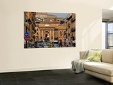 Corso Cairoli from the Modern Town to the Walled City of Macerata, Piazza Suaro Wall Mural by Frank Wing