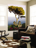 View from the 13th Century Villa Rufolo in Ravello, Amalfi Coast Mural por Glenn Beanland