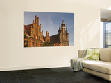 Neogothic Post Office at Old Market Square and Gothic Towers of Church of St Mary Wall Mural by Witold Skrypczak