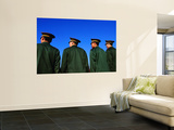 Chinese Soldiers on Parade Wall Mural by Antony Giblin