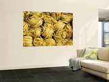 Clusters of Yellow Egg Noodles at Street Side Stall Wall Mural by Antony Giblin