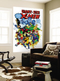 Giant-Size X-Men No.3 Cover: Wolverine, Cyclops, Nightcrawler and Sunfire Charging Wall Mural by Dave Cockrum
