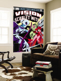 Vision And The Scarlet Witch No.1 Cover: Samhain, Scarlet Witch and Vision Wall Mural by Rick Leonardi