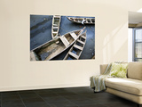 Fishing Boats in Harbour at Low Tide Wall Mural by Brian Cruickshank