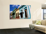 Pastel Coloured House Facades Wall Mural by Wayne Walton
