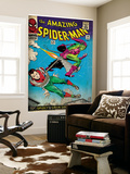 Marvel Comics Retro: The Amazing Spider-Man Comic Book Cover No.39, Green Goblin (aged) Wall Mural