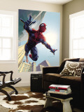 Spider-Man: House Of M No.1 Cover: Spider-Man Swinging Wall Mural by Salvador Larroca