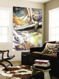 Silver Surfer: Requiem No.1 Group: Silver Surfer, Galactus, Mr. Fantastic, Thing and Human Torch Wall Mural