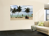 Motorcyclist Driving by Northern Coast of Ko Samui Wall Mural by Austin Bush