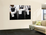 Waiters Ready for Service Wall Mural by Oliver Strewe