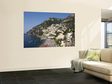 Positano Wall Mural by Karl Blackwell