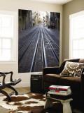 Tracks of Elevador Da Bica Funicular Railway Wall Mural by Holger Leue