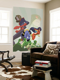 Marvel Adventures Super Heroes No.16 Cover: Beast, Spider Woman and Giant Girl Wall Mural by Sean Galloway