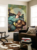 Incredible Hulk No.602 Cover: Skaar and Juggernaut Wall Mural by Ariel Olivetti