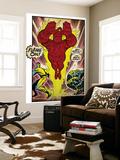Marvel Comics Retro: Fantastic Four Comic Panel, Thing, Mr. Fantastic, Human Torch (aged) Wandgemälde