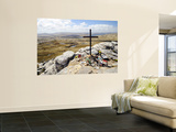 War Memorial to Fallen British Soldiers on Mount Tumbledown Wall Mural by Shannon Nace