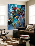 Nomad: Girl Without a World No.4 Group: Nomad, Patriot, Hawkeye, Wiccan, Hulkling and Speed Wall Mural by David Baldeon
