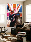 Captain Britain and MI13 13 Cover: Captain Britain Wall Mural by Mico Suayan