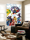 Avengers 17 Group: Captain America Wall Mural by Jerry Ordway