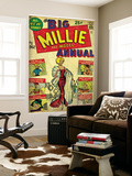 Marvel Comics Retro: Millie the Model Comic Book Cover #1, the Big Annual (aged) Seinämaalaus