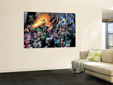 House Of M No.7 Group: Spider-Man, Luke Cage, Storm, Wolverine, She-Hulk and Cyclops Fighting Wall Mural by Olivier Coipel