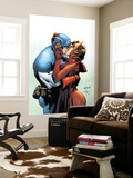 Captain America And The Falcon No.6 Cover: Captain America and Scarlet Witch Wall Mural by Joe Bennett