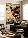 Marvel Comics Retro: Luke Cage, Hero for Hire Comic Panel (aged) Wall Mural