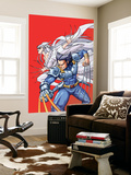 New Mangaverse No.2 Cover: Wolverine and Lady Deathstrike Fighting Wall Mural by Tommy Ohtsuka