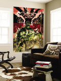 Incredible Hulk No.84 Cover: Hulk Wall Mural by Andy Brase
