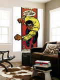 Marvel Comics Retro: Luke Cage, Hero for Hire Comic Panel, Charging (aged) Wall Mural