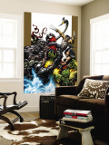Ultimate Spider-Man No.71 Cover: Spider-Man, Wolverine, Green Goblin and Hulk Wall Mural by Mark Bagley