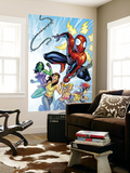 King-Size Spider-Man Summer Special No.1 Cover: Spider-Man, Mary Jane Watson and She-Hulk Wall Mural by Salva Espin