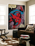 Marvel Comics Retro: The Amazing Spider-Man Comic Panel, Crawling (aged) Wall Mural